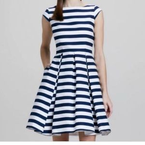 Kate Spade Blue & White Striped Dress